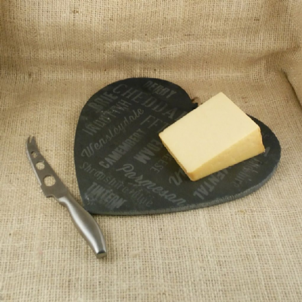 Over  30% off Cheese board slate heart